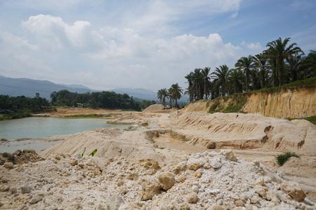 sand mine operation after deforestation