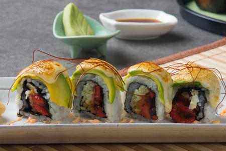 avocado sushi roll