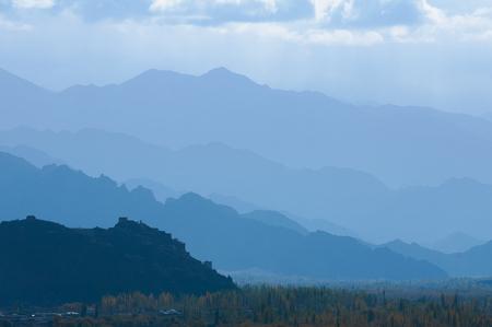 Misty mountain of Himalayas