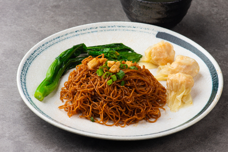 wantan noodles on background Stock Photo - 107153510