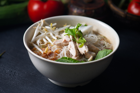 Vermicelli soup noodle Bakso, traditional Malay style