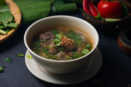 Sup tulang or bone soup, popular traditional Malay dish
