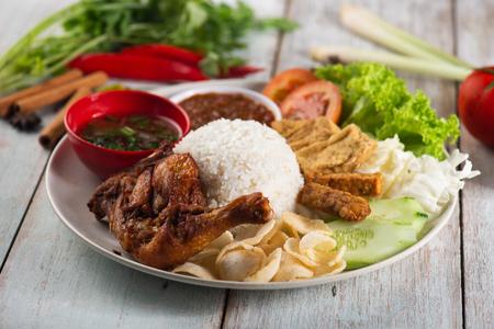 Nasi Campur Ayam Betutu.