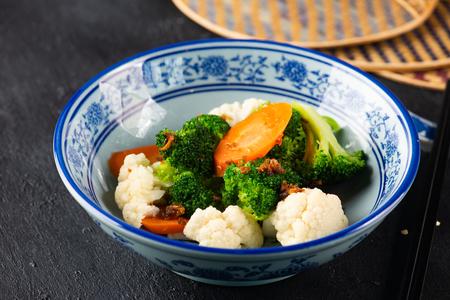 Chinese stir fry broccoli Banco de Imagens