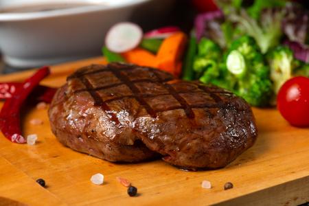 Tenderloin steak on board