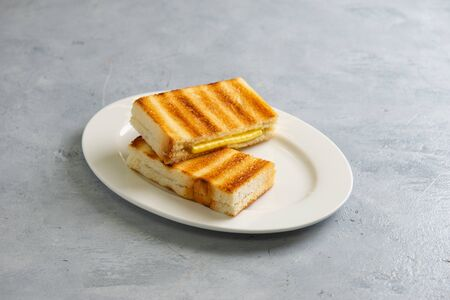 kaya toast with butter, malaysian style Stockfoto