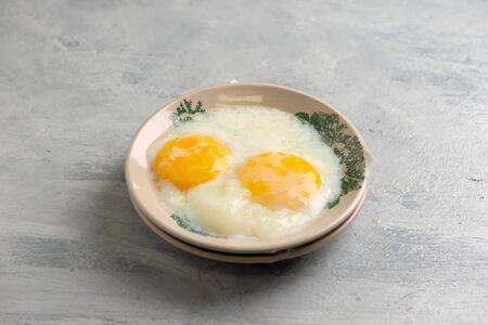 Hainam Style Half Boiled Egg Stock Photo