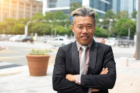Portrait of smiling chinese businessman looking at camera 免版税图像