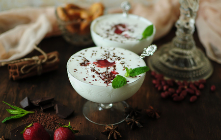 Cold dessert is a taste of happiness and thirst quenching on a hot day  Stock Photo