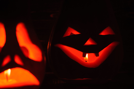 Halloween is an eerie holiday of autumn.  October 31. Stock Photo