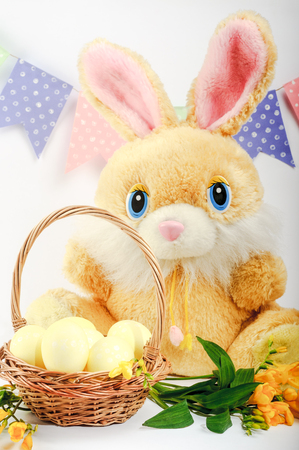 Celebration. Easter holiday.Colorful still lifes Easter Bunny
