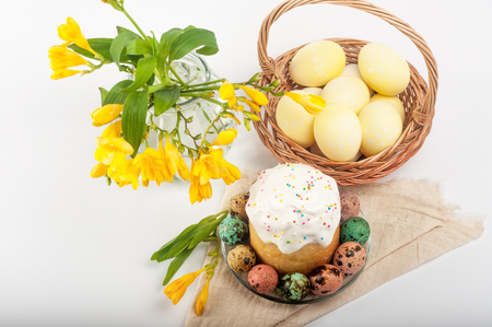 Sweet pastries for Easter. Festive pastry. Beautiful still lifes with baking. Easter.