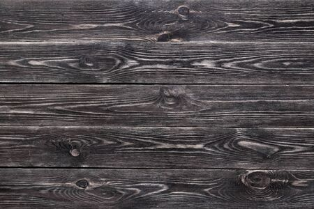 Background with unevenly applied paint, old and worn with a well-defined wood texture. Interesting texture of the wooden background. Background with a pronounced wood texture, colored brown