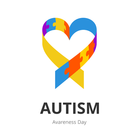 apathy: Autism Awareness Day. Illustration on white background