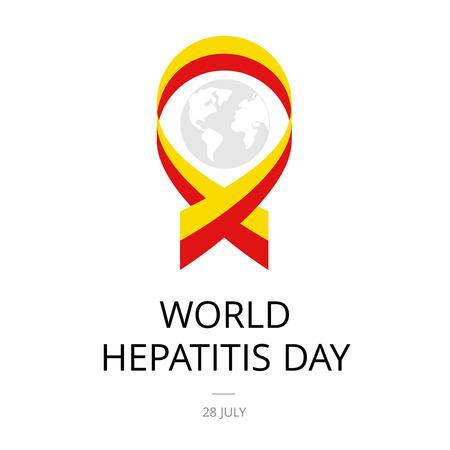 br: Illustration of World Hepatitis Day on white background.
