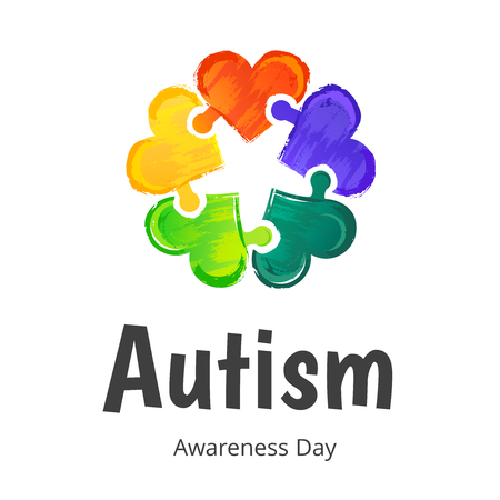 Autism Awareness Day ilustration.