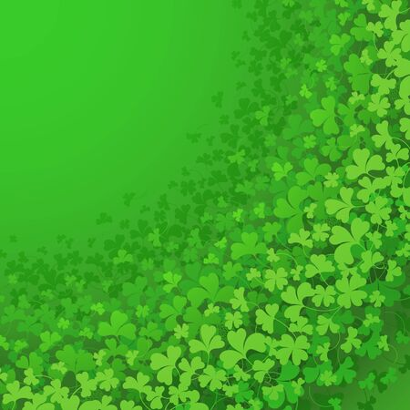 Frame with green Clover. Background for St. Patrick's Day poster or banner.