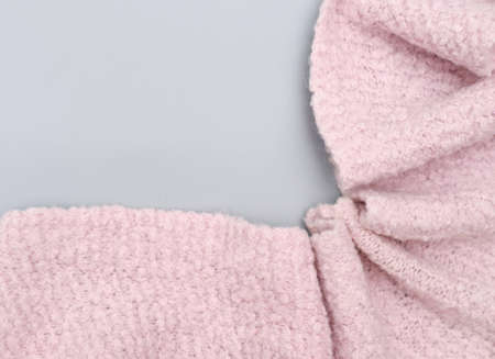 cozy pink scarf handmade of soft alpaca wool for girls and women. warm acsessories for winter season. wide scarf to wear on a coat.