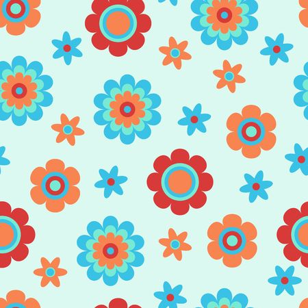 Seamless pattern with creative decorative flowers. Great for fabric, textile. Vector background.