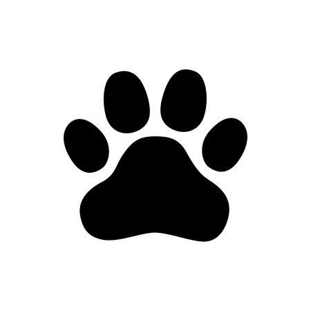 Paw Prints. Logo. Vector Illustration. Isolated vector Illustration. Black on White background. EPS Illustration