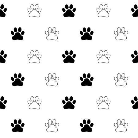 Dog Paw Cat Paw kitten vector Seamless Pattern wallpaper
