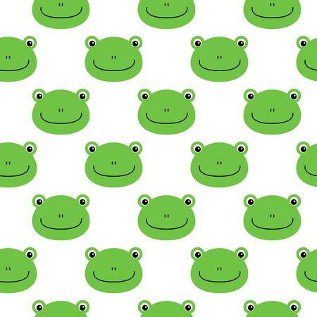 frog vector pattern, seamless pattern, flat frog cartoon background.