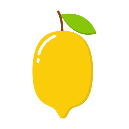 Yellow lemon vector icon illustration isolated on white background. Lemon icon eps. Lemon icon clip art. 일러스트