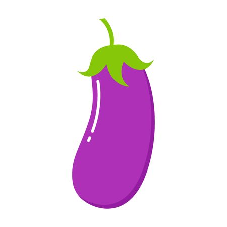 Eggplant icon. Flat illustration of eggplant vector icon isolated on white background