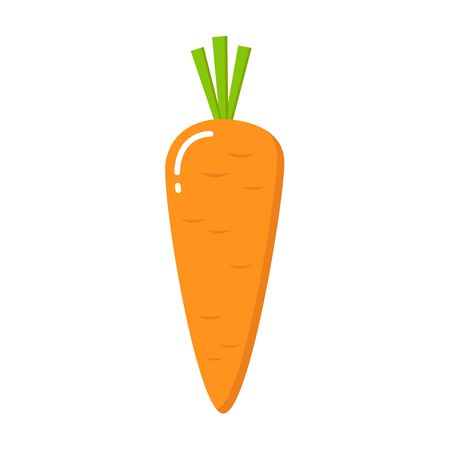 Carrot icon in a flat design on a white background. Vector illustration