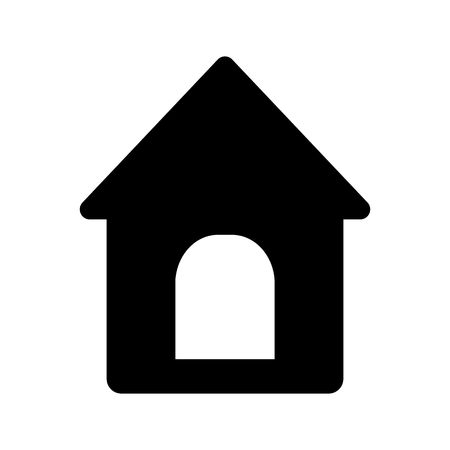 Doghouse icon. Vector illustration style is a flat iconic doghouse symbol. Designed for web and software interfaces. Illustration