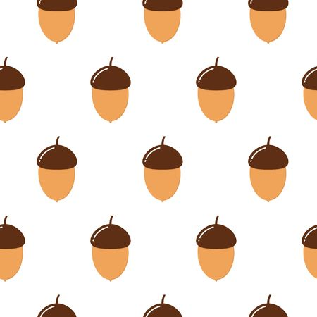 Seamless vector pattern cute acorns. For autumn greeting cards, t-shirt prints, birthday, scrapbook, wallpaper, gift paper, pattern fills. Fashion baby print