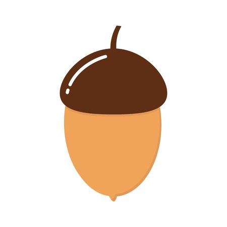 Acorn flat icon, nut and food, vector graphics, a colorful solid pattern on a white background, eps 10.