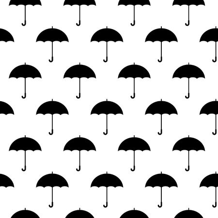Umbrella icon seamless pattern on white background. Vector Illustration