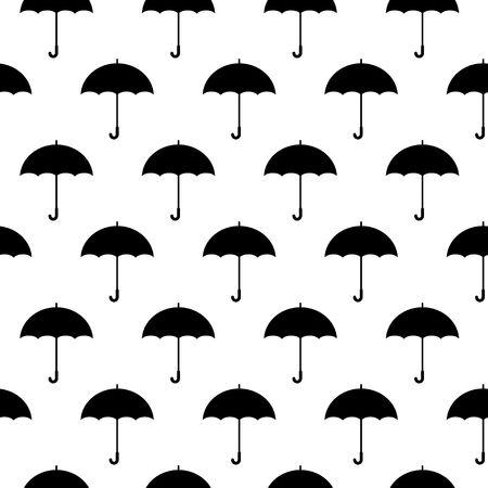 Umbrella icon seamless pattern on white background. Vector Illustration Archivio Fotografico - 122424997