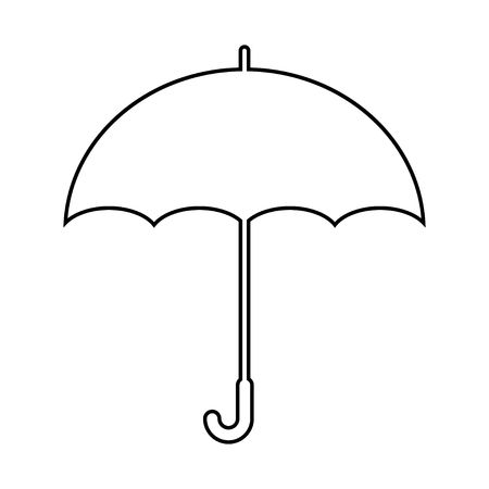 Umbrella icon in trendy flat style isolated on background. Umbrella icon page symbol for your web site design Umbrella icon logo, app, UI. Ilustração