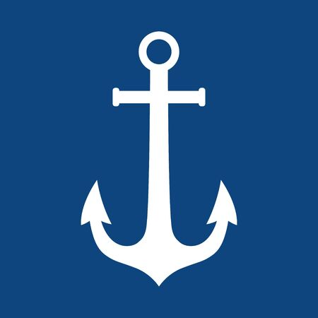 Anchor vector  icon Nautical maritime sea ocean boat illustration symbol