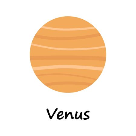A cartoon illustration of the planet Venus Ilustração