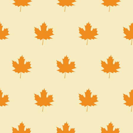 Seamless Pattern with Autumn Maple Leaves. Vector Illustration. Autumn Design Collection, Backgrounds