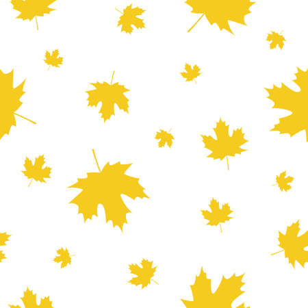 Seamless Pattern with Autumn Maple Leaves. Vector Illustration. Autumn Design Collection, Backgrounds, 向量圖像