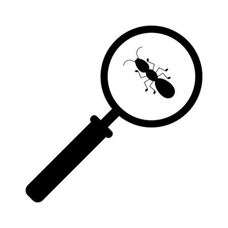 Magnifying glass with marching ants over white background 向量圖像