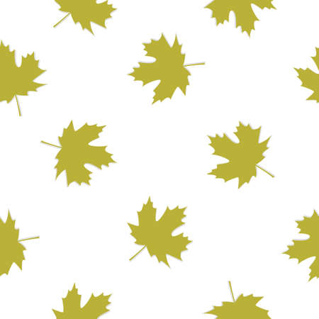 Seamless pattern with green leafs. Vector illustration