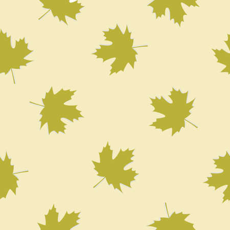 Seamless pattern background of maple leaves. Vector.
