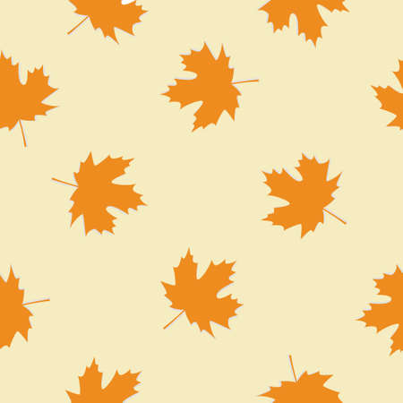 vintage floral autumn fall seamless pattern with maple leaves 向量圖像