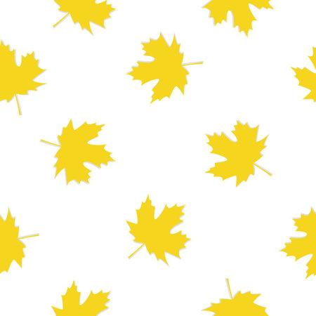 Seamless pattern with autumn maple leaves. Vector illustration. 向量圖像