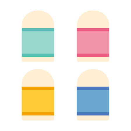 Eraser Vector Icon Illustration. School And Office Icon