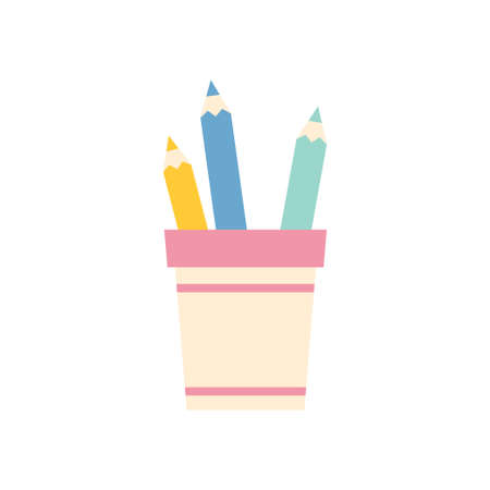 pencil holders isolated icon design, vector illustration graphic Illustration