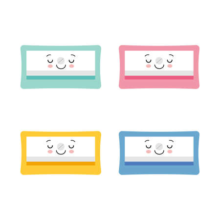 vector illustration of cute Pencil Sharpener cartoon kawaii character