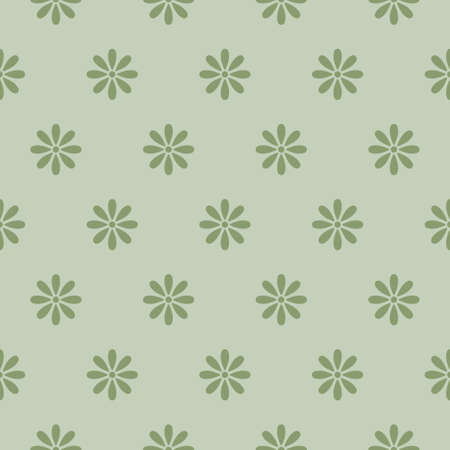 Seamless pattern with simple flowers. Geometrical background with flower silhouette.