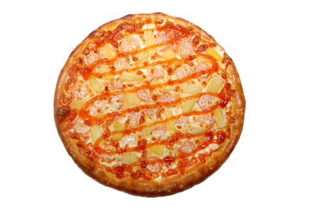 Italian pizza with lines on the top