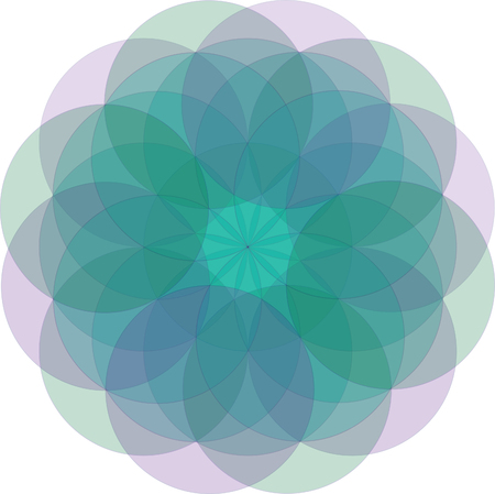Simple flower mandala vector illustration with very soft gradient